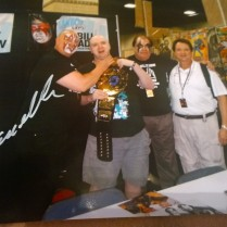 Demolition AX Signature on Picture from May 2014 Knoxville Fan Boy Expo